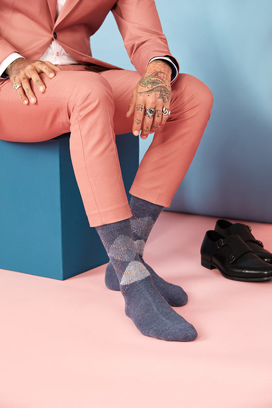 LookBook Burlington chaussette pour dandy rebelle